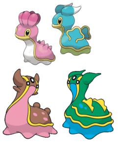 Babosa marinas pokémon