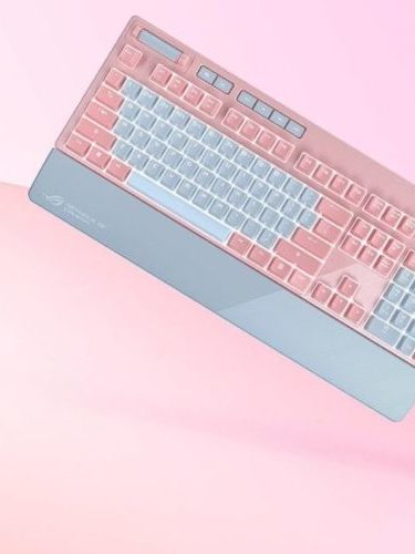 pink gamer keyboard