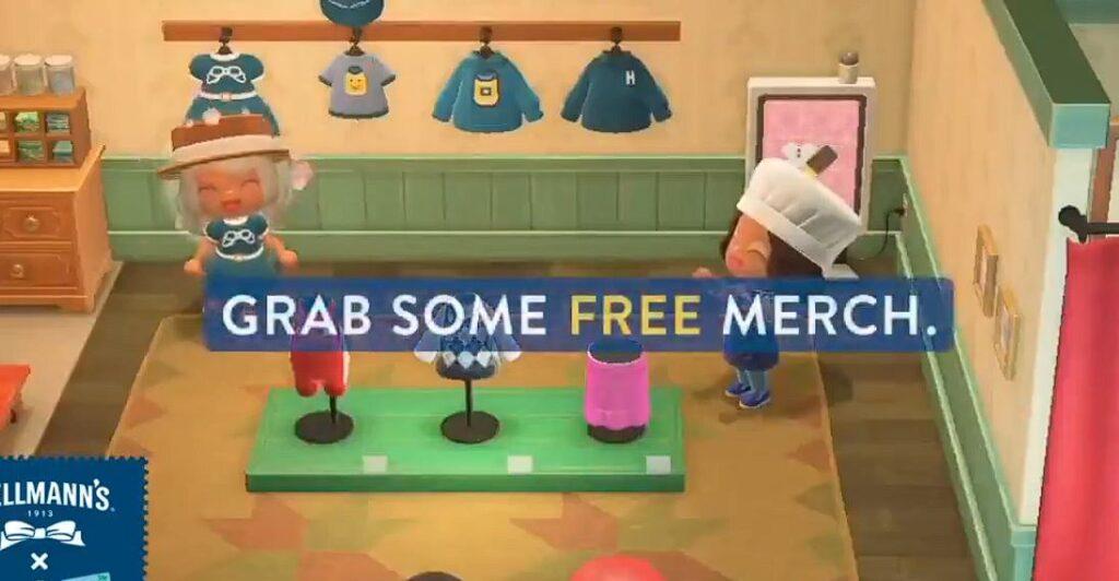 Opten algo de mercancia gratis hellmanns animal crossing