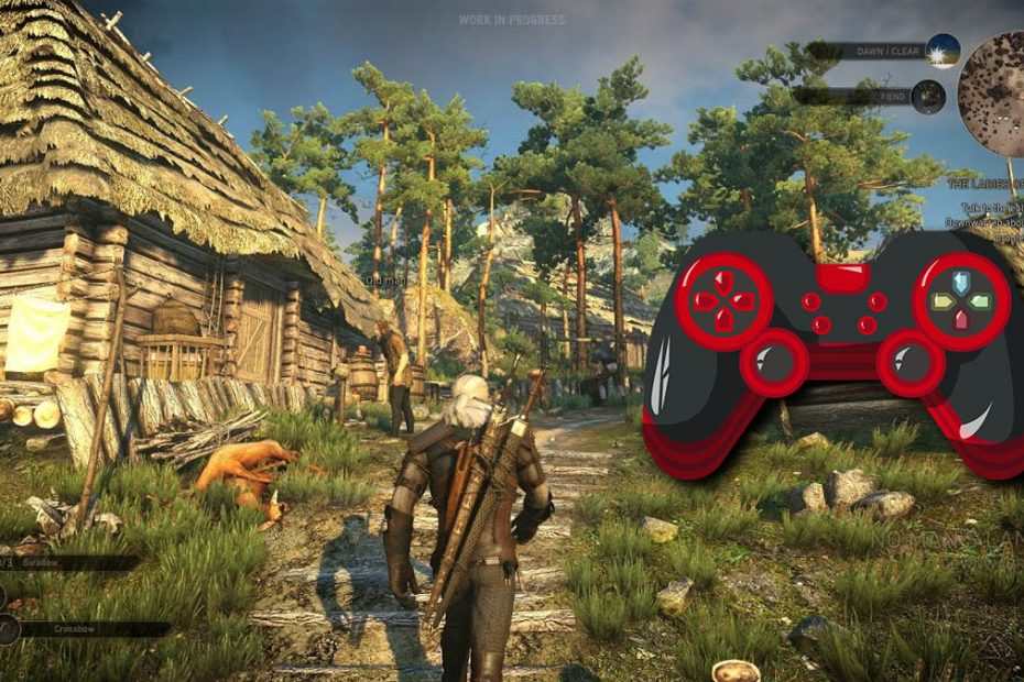 the witcher 3 pc cómo usar control generico